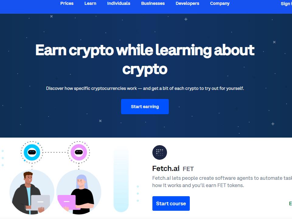 coinbaes earn free crypto program